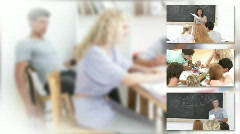 Montage of teenager studying - stock footage