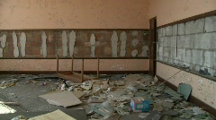 Detroit abandoned school 5 Stock Footage