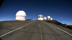 P.O.V. Arriving at Astronomical Observatory Stock Footage