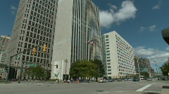 Detroit downtown 1 Stock Footage