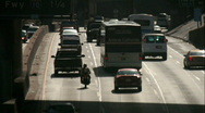 Stock Video Footage of downtown traffic 02