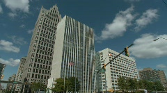 Detroit downtown 2 Stock Footage