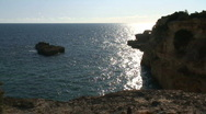 Rock and sea Stock Footage