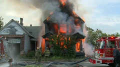 Detroit fire 2 Stock Footage
