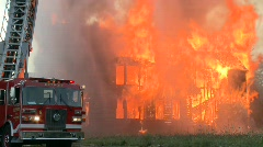 Detroit fire 4 Stock Footage