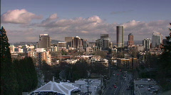 Portland Skyline in the Afternoon Stock Footage