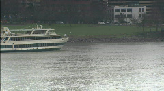 Ferry on the Columbia River - stock footage