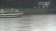 Stock Video Footage of Ferry on the Columbia River