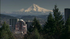 Portland and Mt. Hood - stock footage