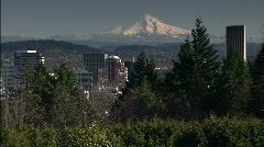 Portland with Mt. Hood - stock footage