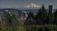 Portland with Mt. Hood Stock Footage