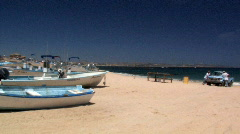 Baja beach boats - stock footage