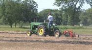 Pioneer diesel tractor plowing 001 Stock Footage