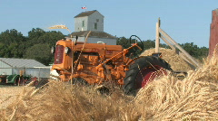 Tractor and Wagon at Sunrise - stock footage