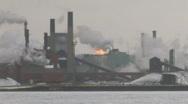 Steelmill.  Stock Footage