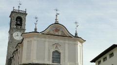 Italian church on the Alps Stock Footage