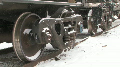 Freight train wheels. Stock Footage