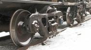 Freight train wheels. Stock Footage