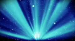 light rays on a starry night, looping background - stock footage