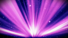 Light rays on a starry night, looping background Stock Footage