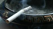 Smoking cigarette Stock Footage