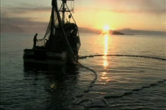 Fishing boat and nets - stock footage