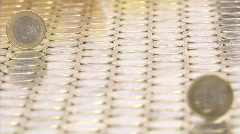 Euro coins background Stock Footage