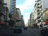 Stock Video Footage of Argentina-Buenos-Aires-Driving-Downtown
