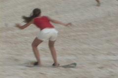 Brazil-Florianopolis-Sand-Surfing Stock Footage