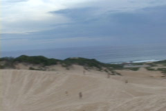 Brazil-Florianopolis-Sand-Surfing-Dunes Stock Footage