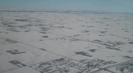 Stock Video Footage of Aerial flight over great plains in winter