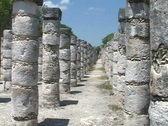 Stock Video Footage of Chitzen-Itza-Yucatan-Peninsula-Mayan-Ruins-Columns-2