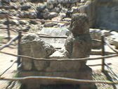 Stock Video Footage of Chitzen-Itza-Yucatan-Peninsula-Mayan-Statue-1
