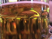 Looking-Through-Beer-Glass-2 Stock Footage