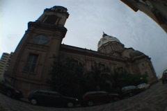 Uruguay-Punta Del Este-Historic-Church-1 Stock Footage