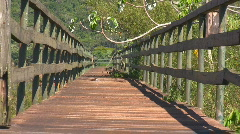 Iguazu Falls Footbridge to Nowhere Zoom Out Stock Footage