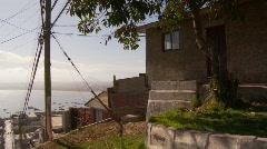 Coquimbo, hillside shanty neighborhood. Chile Stock Footage
