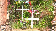 New Mex Santuario Chimayo Cross Zoom Out - stock footage