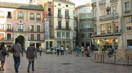 Stock Video Footage of Malaga Central Square