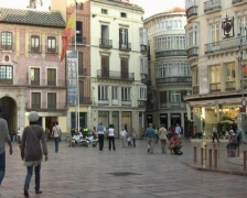 Malaga Central Square Stock Footage