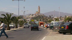 Coquimbo, street traffic. Chile Stock Footage
