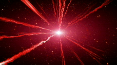 loopable glowing red beams expanding from shiny center - stock footage