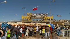 Coquimbo outdoor fish market, #1 Stock Footage