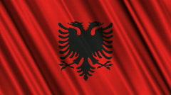 Albania Flag Loop 01 Stock Footage