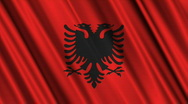 Stock Video Footage of Albania Flag Loop 01