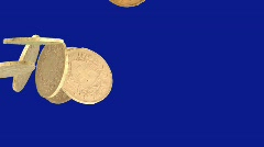 Swiss gold coin with pre-keyed alpha channel - 4 Stock Footage