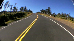 Point-of-view Fish-eye Driving on Rural Road Stock Footage