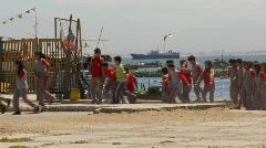 School kids on field trip Stock Footage