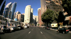 Fish-eye Point-of-View Streets of San Francisco - stock footage
