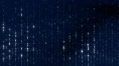 Blue Matrix Background HD1080 25p Stock Footage